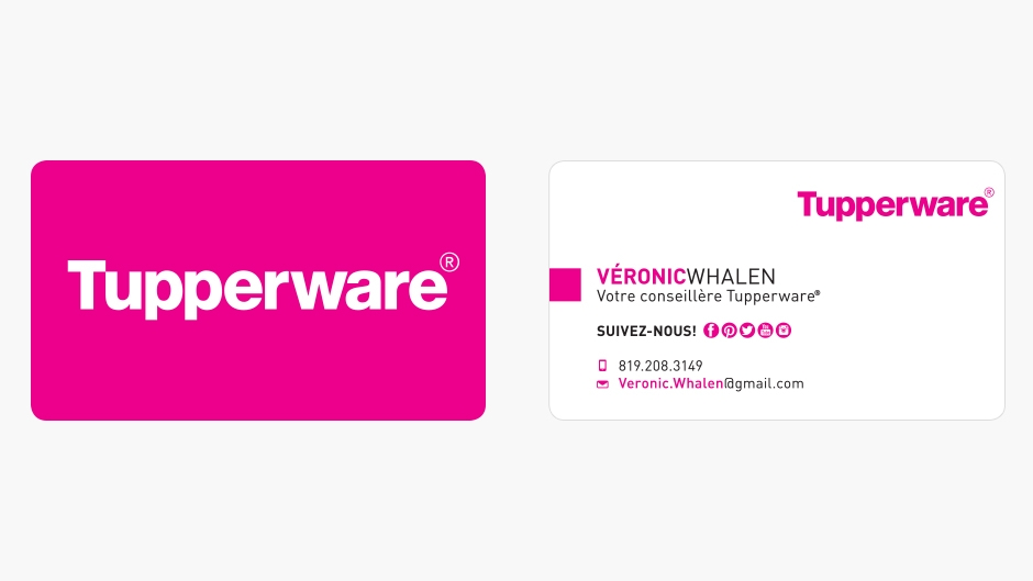 Great tupperware business cards contemporary business for Tupperware business card templates